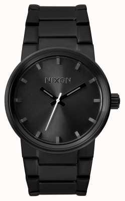Nixon Cannon | tudo preto | pulseira de aço ip preto | mostrador preto A160-001-00