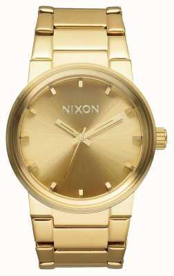 Nixon Cannon | todo ouro | pulseira de ouro ip aço | mostrador de ouro A160-502-00