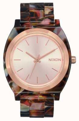 Nixon Acetato do contador do tempo | ouro rosa / tartaruga rosa | mostrador de ouro rosa A327-3233-00