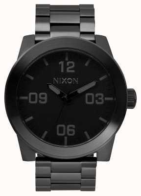 Nixon Corporal ss | tudo preto | pulseira de aço ip preto | mostrador preto A346-001-00