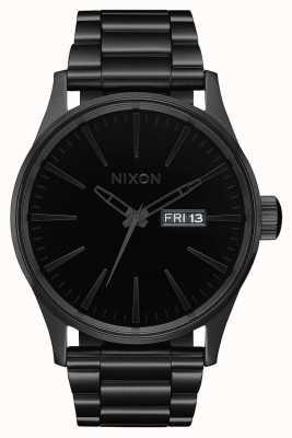 Nixon Sentry ss | todo preto / preto | pulseira de aço ip preto | mostrador preto A356-1147-00