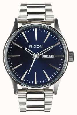 Nixon Sentry ss | raio de sol azul | pulseira de aço inoxidável | mostrador azul A356-1258-00
