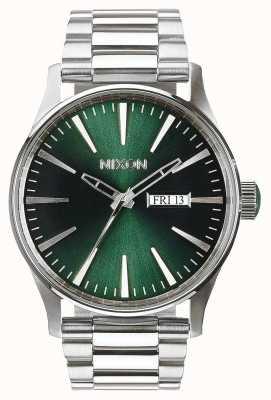 Nixon Sentry ss | raio de sol verde | pulseira de aço inoxidável | mostrador verde A356-1696-00