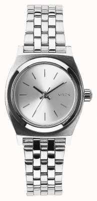 Nixon Pequeno contador de tempo | toda prata | pulseira de aço inoxidável mostrador prateado A399-1920-00