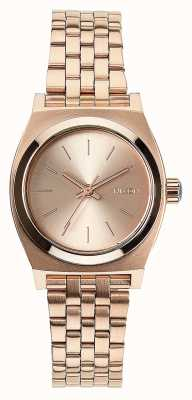 Nixon Pequeno contador de tempo | todo ouro rosa | pulseira de aço ip em ouro rosa | mostrador de ouro rosa A399-897-00