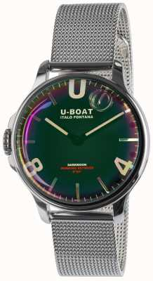 U-Boat Darkmoon 38 mm pulseira de metal ss preto 8471/MT