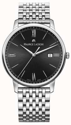 Maurice Lacroix Eliros masculino | pulseira de aço inoxidável | mostrador preto EL1118-SS002-310-2
