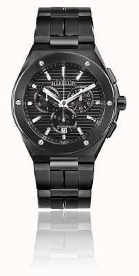 Michel Herbelin Cap camarat chrono | pulseira de aço preto | mostrador preto 37645/BN14