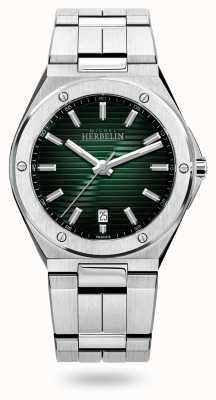 Michel Herbelin Cap camarat quartz | pulseira de aço inoxidável | mostrador verde 12245/B16