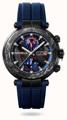 Michel Herbelin Newport régate carbone | pulseira de silicone azul | caixa de carbono 288/CN45CB