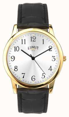 Limit Caixa dourada com 38 mm de pulseira de efeito croc preto 5953.01