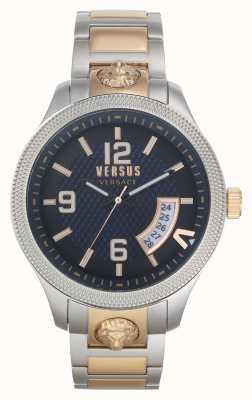 Versus Versace | homens | reale | pulseira de aço bicolor | mostrador azul | VSPVT0920