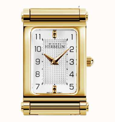 Michel Herbelin Antarès | relógio banhado a ouro apenas H.17048/P28