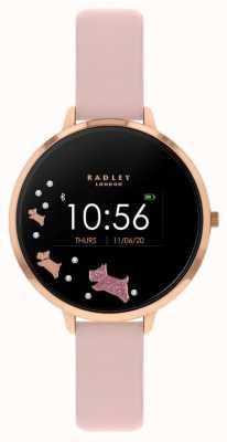Radley Rastreador de atividades da série 03 | pulseira de couro rosa RYS03-2002