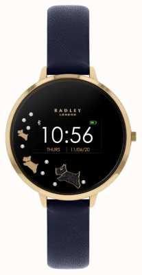 Radley Rastreador de atividades da série 03 | pulseira de couro azul RYS03-2004