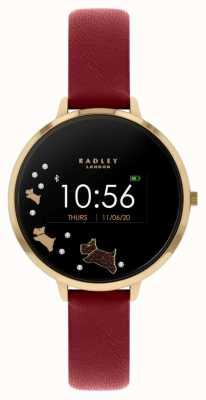 Radley Rastreador de atividades da série 03 | pulseira de couro vermelha RYS03-2006