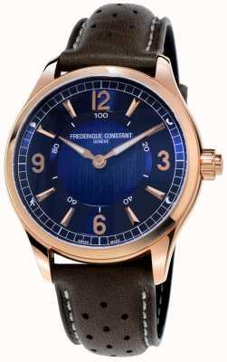 Frederique Constant Smartwatch relojoeiro exclusivo | pulseira de couro marrom FC-282AN5B4