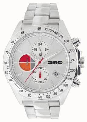 DeLorean Motor Company Watches Aço de prata 1981 | pulseira de aço inoxidável | mostrador prateado DMC-9