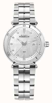 Michel Herbelin Newport   pulseira de aço inoxidável feminino 14288/B89
