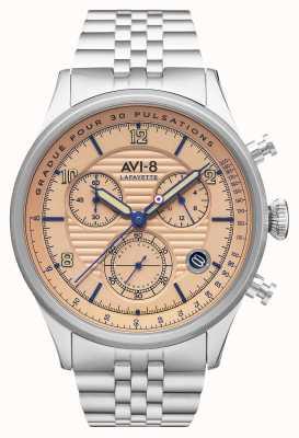 AVI-8 Flyboy lafayette | cronógrafo | pulseira de aço inoxidável AV-4076-44