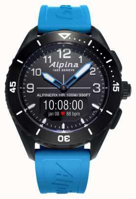 Alpina | alpinerx vivo | pulseira de borracha azul | AL-284LBBW5AQ6