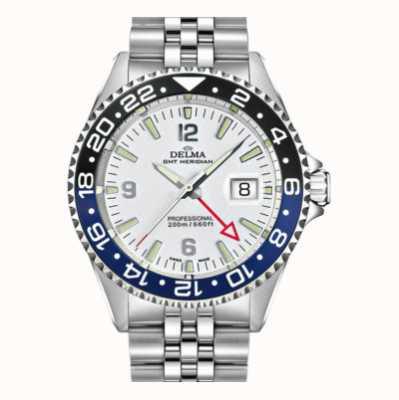Delma Santiago gmt | pulseira de aço | mostrador branco 41701.648.6.014