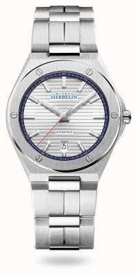 Michel Herbelin Cap camarat | automático | mostrador prateado | pulseira de aço inoxidável 1645/B42