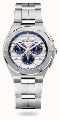 Michel Herbelin Cap camarat   cronógrafo   pulseira de aço inoxidável   37645/B42