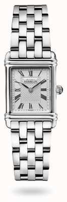 Michel Herbelin Art déco | pulseira de aço inoxidável | mostrador prateado 17478/08B2