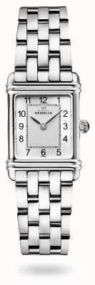 Michel Herbelin Art déco | pulseira de aço inoxidável | mostrador prateado 17478/22B2