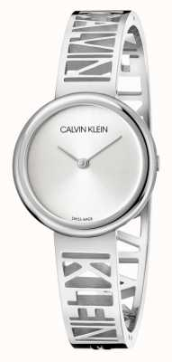Calvin Klein Mania | pulseira de aço inoxidável | mostrador prateado | tamanho M KBK2M116