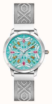 Thomas Sabo | glam e alma | mulheres | pulseira em malha de aço | libélula de pedras preciosas | WA0368-201-215-33