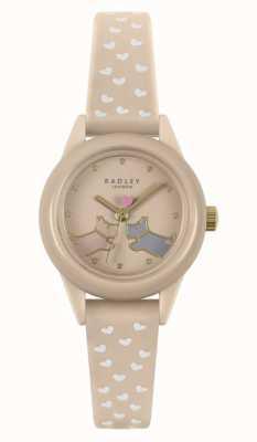 Radley Cuidado! | pulseira de silicone nude para senhora | mostrador nu RY21258
