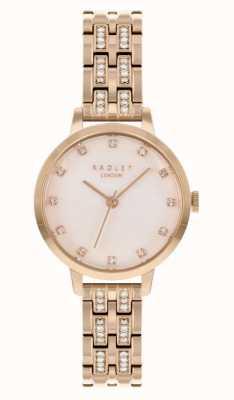 Radley | mulheres | pulseira folheada a ouro rosa | mostrador branco | RY4560