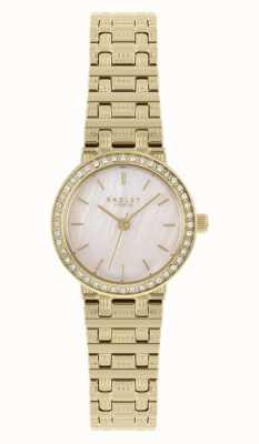 Radley | mulheres | pulseira de aço banhado a ouro | madrepérola dial | RY4564
