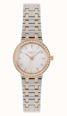 Radley | mulheres | pulseira de aço bicolor | madrepérola dial | RY4565