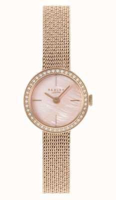 Radley | mulheres | pulseira em malha folheada a ouro rosa | madrepérola rosa dial | RY4570