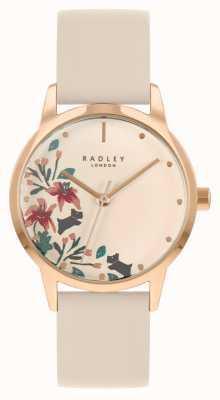 Radley Correia de couro nu feminino | mostrador floral nude RY21260A
