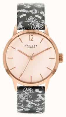 Radley Alça padrão preto feminino | rosa dial RY21246A