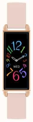 Reflex Active Relógio inteligente da série 2 | tela de toque colorida | pulseira de couro rosa RA02-2006