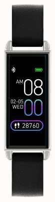 Reflex Active Relógio inteligente da série 2 | tela de toque colorida | pulseira de couro preta RA02-2007