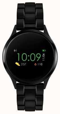 Reflex Active Relógio inteligente da série 4 | tela de toque colorida | pulseira de aço ip preto RA04-3000