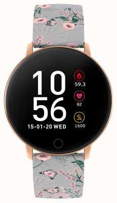 Reflex Active Relógio inteligente da série 5 | monitor de hora | tela de toque colorida | cinta cinza RA05-2064