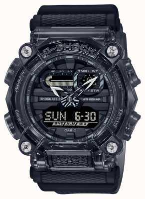 Casio G-shock | esqueleto série cinza | pulseira de resina transparente cinza profundo | mostrador cinza GA-900SKE-8AER