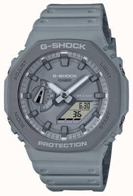 Casioak | pulseira de resina cinza | mostrador cinza GA-2110ET-8AER