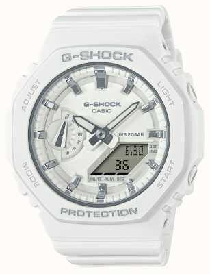 Casio G-shock de tamanho médio | pulseira de resina branca | mostrador branco GMA-S2100-7AER