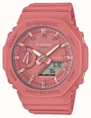 Casio G-shock de tamanho médio | pulseira de resina rosa | mostrador rosa GMA-S2100-4A2ER