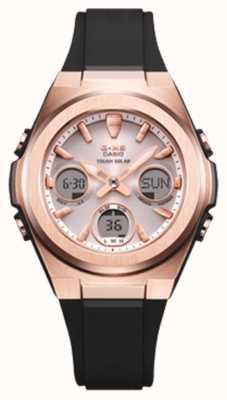 Casio G-shock | msg -rose-gold ip | pulseira de resina preta | MSG-S600G-1AER