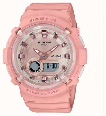 Casio Baby-g | pulseira de silicone rosa coral | BGA-280-4AER