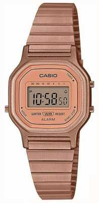 Casio Vintage | pulseira de aço banhado a ouro rosa | tela digital LA-11WR-5AEF